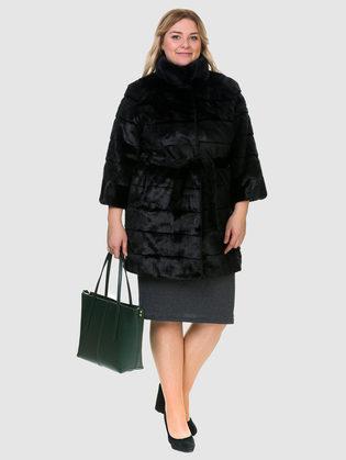 Шуба под бобра Мех под бобра, цвет черный, арт. 18902997  - цена 12690 руб.  - магазин TOTOGROUP
