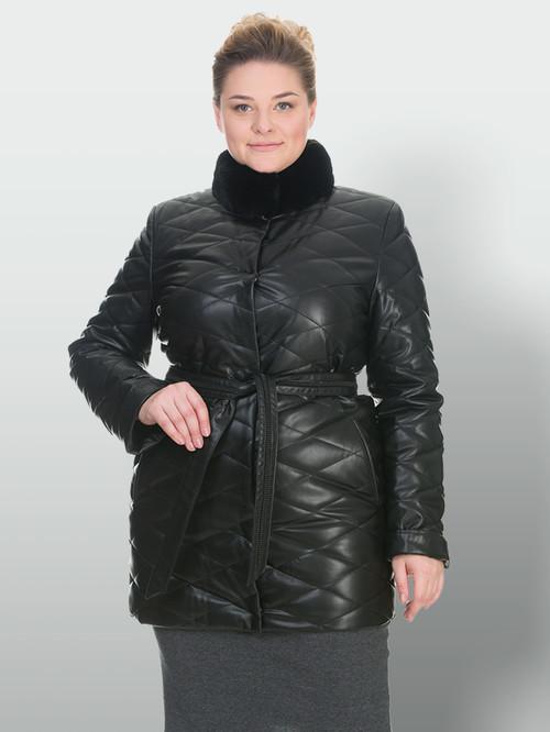 Кожаное пальто артикул 18902998/50 - фото 2