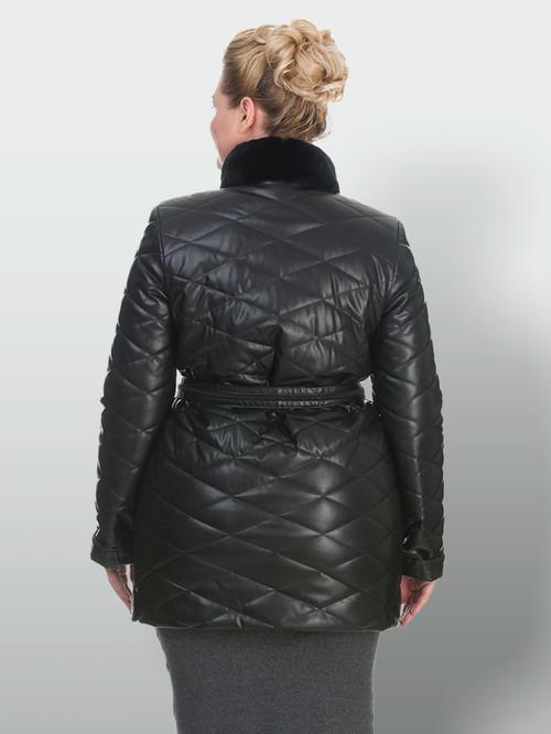Кожаное пальто артикул 18902998/50 - фото 3