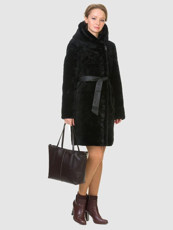 Шуба из мутона мех мутон, цвет черный, арт. 18903218  - цена 19990 руб.  - магазин TOTOGROUP