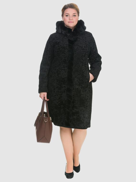 Шуба из эко-меха эко мех, цвет черный, арт. 18903221  - цена 11290 руб.  - магазин TOTOGROUP