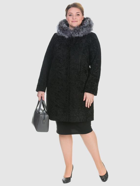Шуба из эко-меха эко мех, цвет черный, арт. 18903222  - цена 15990 руб.  - магазин TOTOGROUP