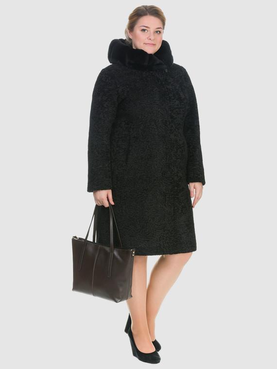 Шуба из эко-меха эко мех, цвет черный, арт. 18903223  - цена 10590 руб.  - магазин TOTOGROUP