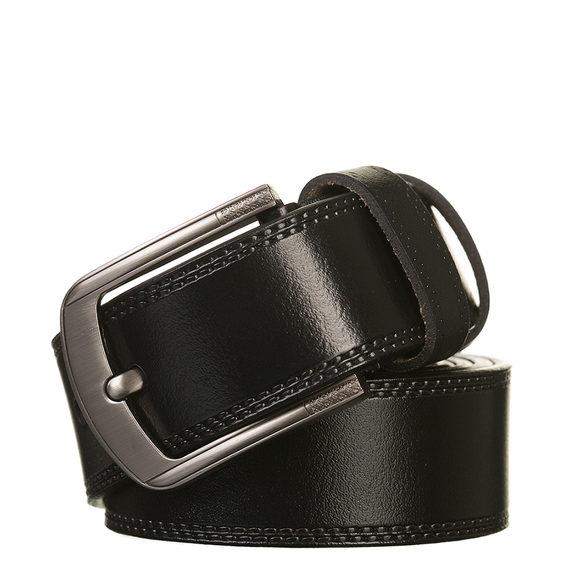 Ремень кожа теленок, цвет черный, арт. 18903229  - цена 790 руб.  - магазин TOTOGROUP