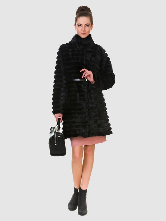 Шуба из норки мех норка, цвет черный, арт. 18903273  - цена 25590 руб.  - магазин TOTOGROUP