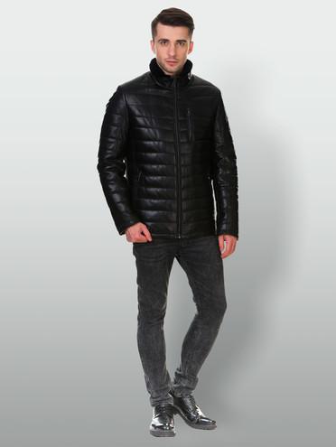 Кожаная куртка кожа , цвет черный, арт. 18903287  - цена 16990 руб.  - магазин TOTOGROUP