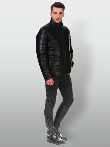 Кожаная куртка кожа , цвет черный, арт. 18903289  - цена 16990 руб.  - магазин TOTOGROUP