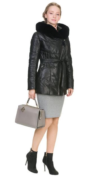 Кожаная куртка кожа овца, цвет черный, арт. 18903290  - цена 19990 руб.  - магазин TOTOGROUP