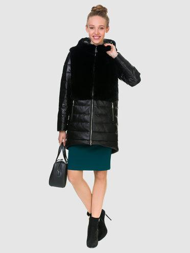 Кожаное пальто кожа , цвет черный, арт. 18903292  - цена 18990 руб.  - магазин TOTOGROUP