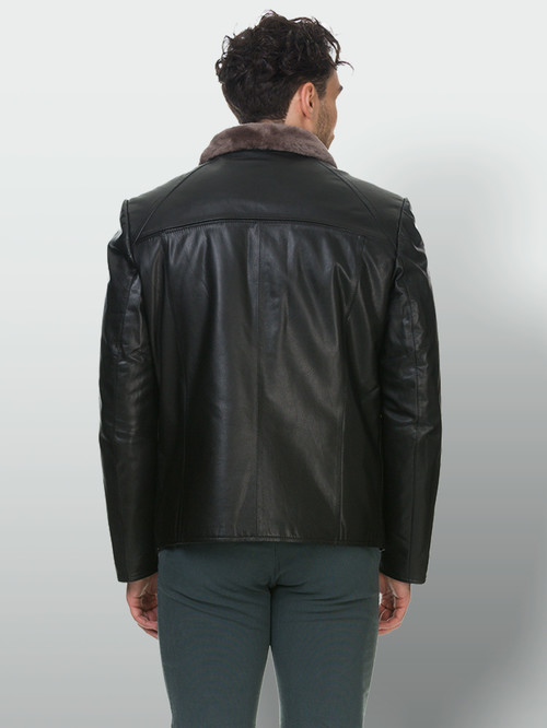 Кожаная куртка артикул 18903387/46 - фото 3