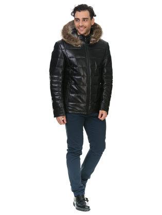 Кожаная куртка кожа овца, цвет черный, арт. 18903389  - цена 22690 руб.  - магазин TOTOGROUP