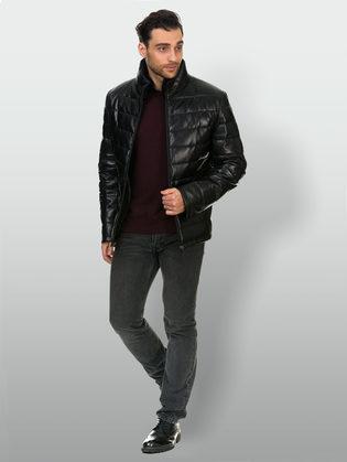 Кожаная куртка кожа овца, цвет черный, арт. 18903391  - цена 17990 руб.  - магазин TOTOGROUP