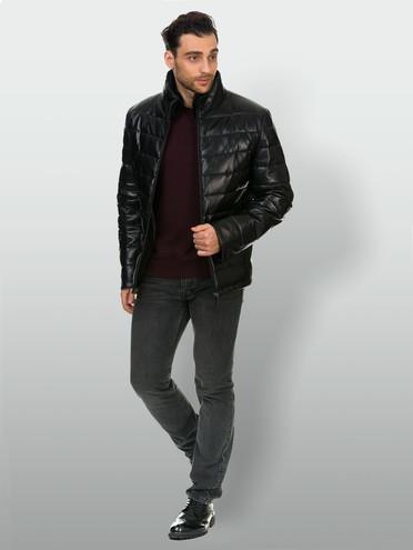 Кожаная куртка кожа , цвет черный, арт. 18903391  - цена 14190 руб.  - магазин TOTOGROUP