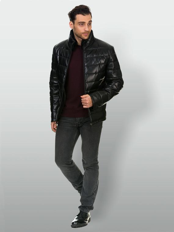 Кожаная куртка кожа , цвет черный, арт. 18903391  - цена 12690 руб.  - магазин TOTOGROUP