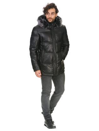Кожаная куртка кожа овца, цвет черный, арт. 18903399  - цена 22690 руб.  - магазин TOTOGROUP