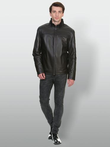 Кожаная куртка кожа , цвет черный, арт. 18903400  - цена 8990 руб.  - магазин TOTOGROUP