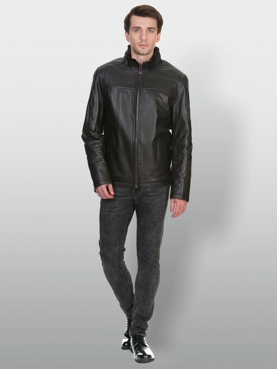 Кожаная куртка кожа , цвет черный, арт. 18903400  - цена 15990 руб.  - магазин TOTOGROUP