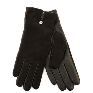 Перчатки кожа замша, цвет черный, арт. 18903437  - цена 2290 руб.  - магазин TOTOGROUP