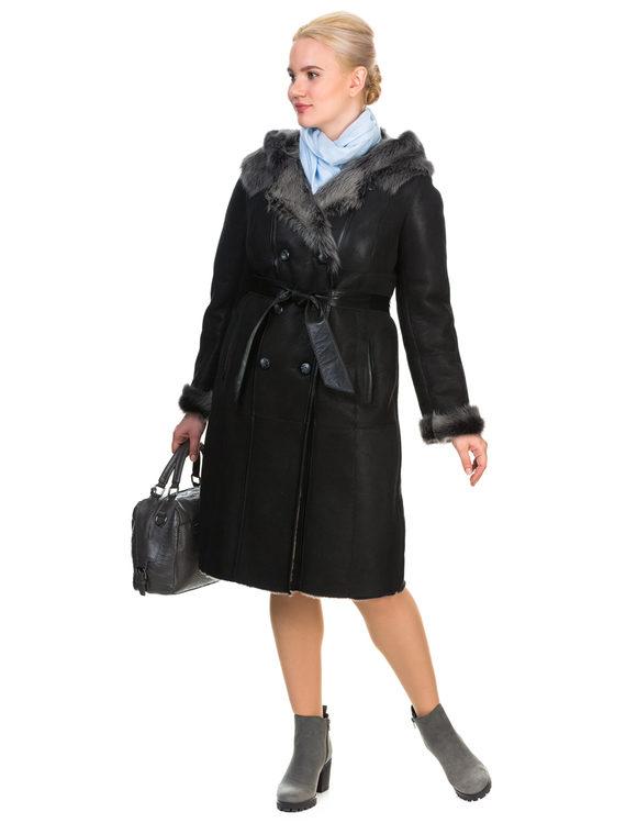 Дубленка дуб. овчина, цвет черный, арт. 18903460  - цена 19990 руб.  - магазин TOTOGROUP