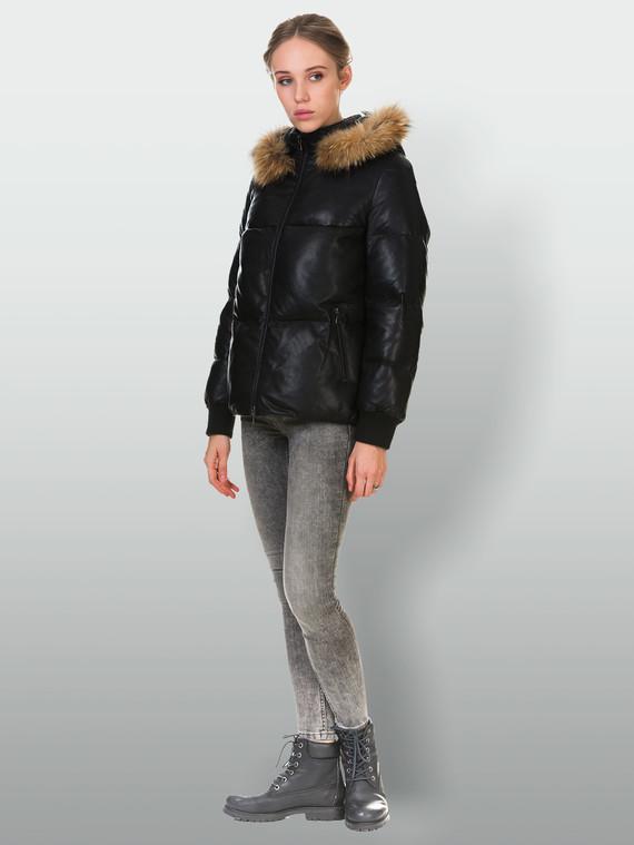 Кожаная куртка кожа , цвет черный, арт. 18903461  - цена 11990 руб.  - магазин TOTOGROUP