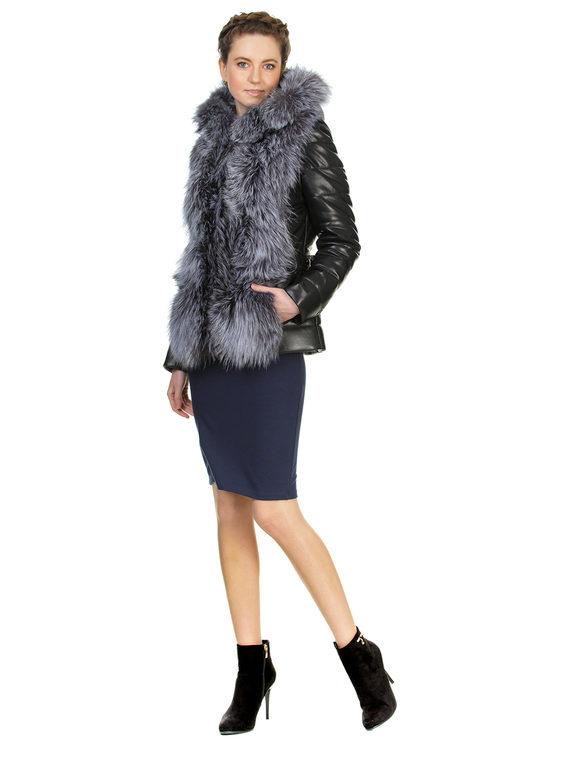 Кожаная куртка эко кожа 100% П/А, цвет черный, арт. 18903462  - цена 14990 руб.  - магазин TOTOGROUP