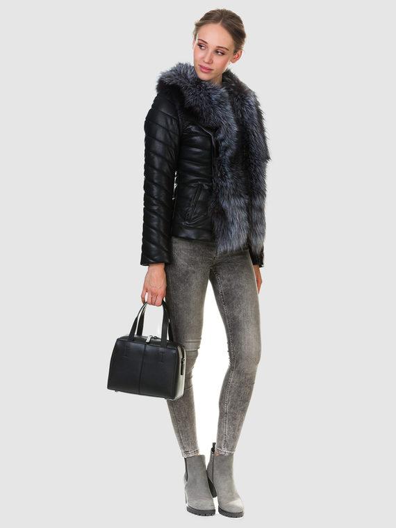 Кожаная куртка эко кожа 100% П/А, цвет черный, арт. 18903463  - цена 13390 руб.  - магазин TOTOGROUP