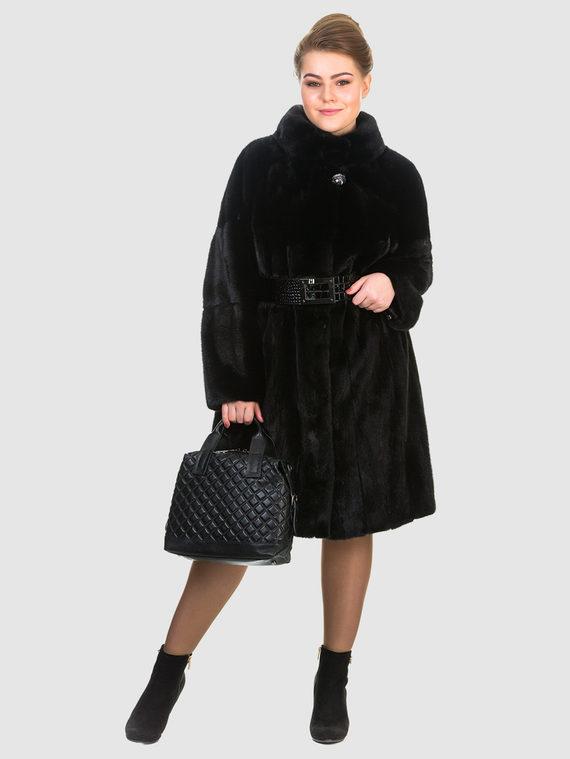 Шуба из норки мех норка, цвет черный, арт. 18903493  - цена 79990 руб.  - магазин TOTOGROUP