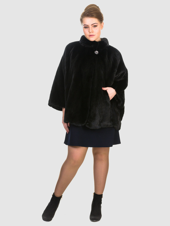 Шуба из норки мех норка, цвет черный, арт. 18903494  - цена 63990 руб.  - магазин TOTOGROUP