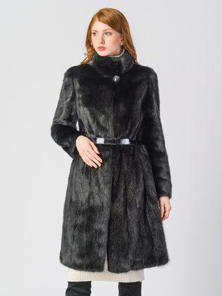 Шуба из норки мех норка крашеная, цвет черный, арт. 18903501  - цена 94990 руб.  - магазин TOTOGROUP