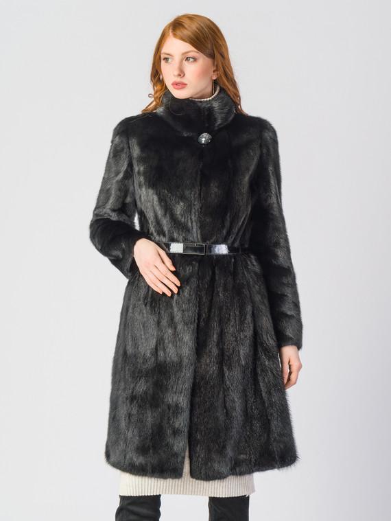 Шуба из норки мех норка, цвет черный, арт. 18903501  - цена 89990 руб.  - магазин TOTOGROUP
