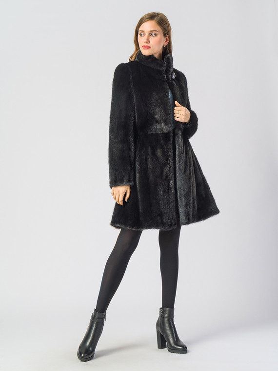Шуба из норки мех норка, цвет черный, арт. 18903502  - цена 105990 руб.  - магазин TOTOGROUP