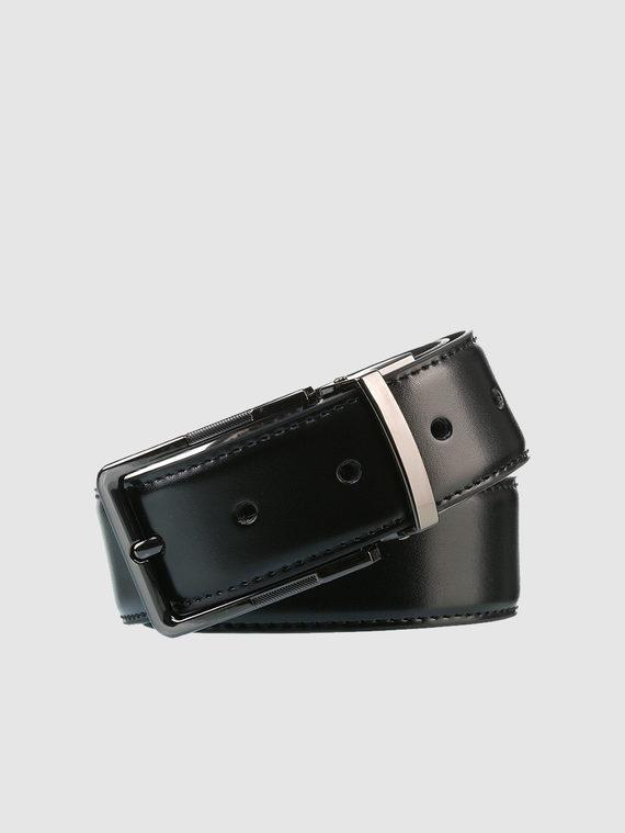 Ремень кожа теленок, цвет черный, арт. 18903535  - цена 940 руб.  - магазин TOTOGROUP