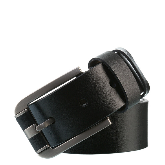 Ремень кожа теленок, цвет черный, арт. 18903536  - цена 1190 руб.  - магазин TOTOGROUP