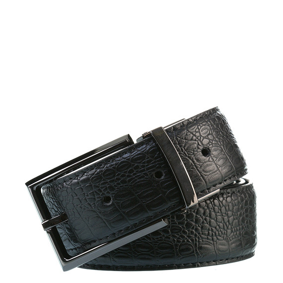 Ремень кожа теленок, цвет черный, арт. 18903538  - цена 1070 руб.  - магазин TOTOGROUP