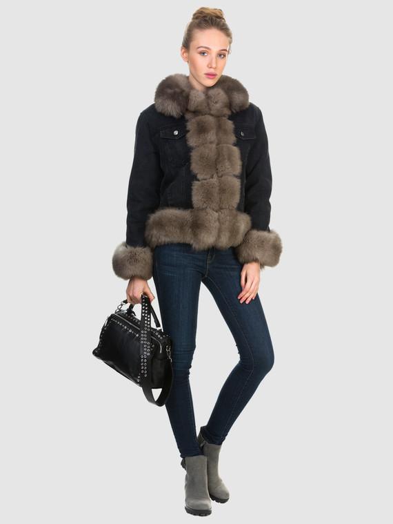 Текстильная куртка текстиль, цвет черный, арт. 18903600  - цена 21290 руб.  - магазин TOTOGROUP