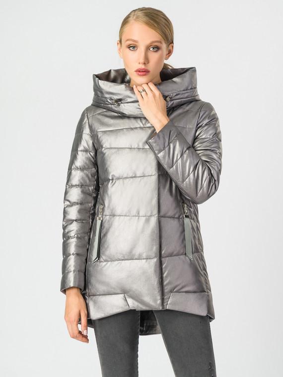 Кожаная куртка эко-кожа 100% П/А, цвет металлик, арт. 19006835  - цена 5890 руб.  - магазин TOTOGROUP