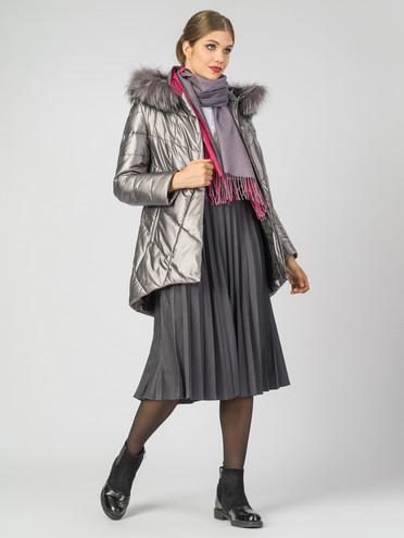Кожаная куртка эко-кожа 100% П/А, цвет серый металлик, арт. 19006972  - цена 11990 руб.  - магазин TOTOGROUP