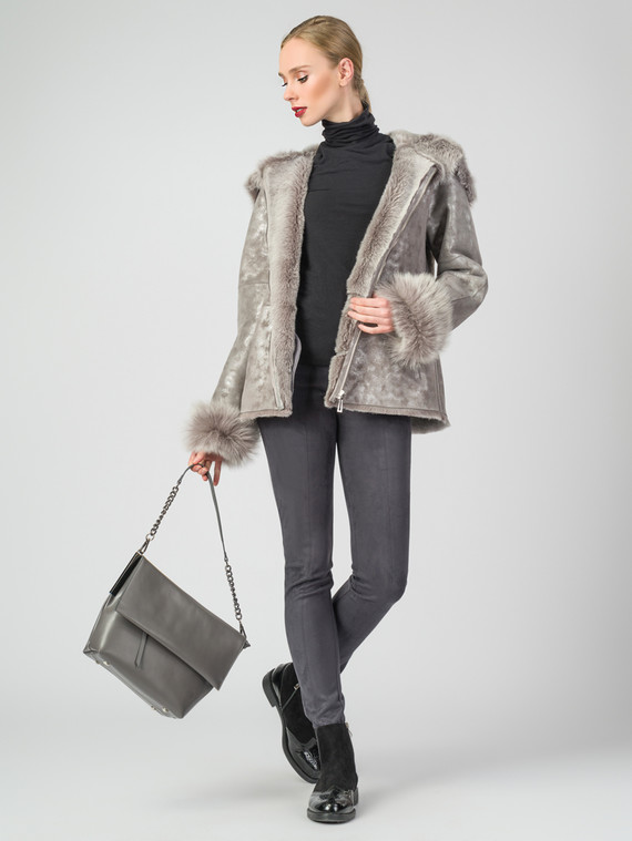 Дубленка дуб. овчина, цвет серый, арт. 19007201  - цена 35990 руб.  - магазин TOTOGROUP