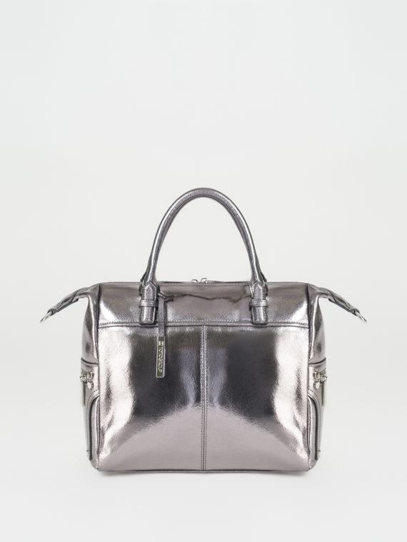 Сумка кожа теленок, цвет серый металлик, арт. 19107874  - цена 5590 руб.  - магазин TOTOGROUP