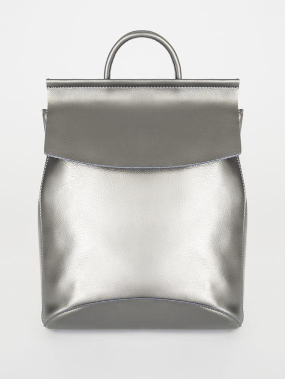Сумка кожа теленок, цвет серый металлик, арт. 19108261  - цена 3590 руб.  - магазин TOTOGROUP