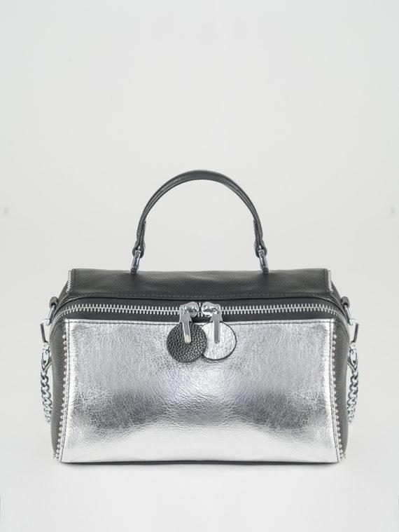 Сумка кожа теленок, цвет серый металлик, арт. 19108379  - цена 3590 руб.  - магазин TOTOGROUP