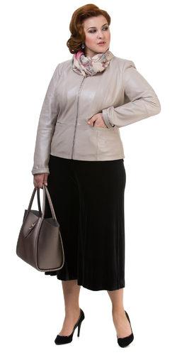Кожаная куртка кожа овца, цвет серый металлик, арт. 19700107  - цена 11490 руб.  - магазин TOTOGROUP