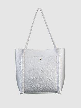 Сумка эко кожа 100% П/А, цвет серый металлик, арт. 19700549  - цена 2550 руб.  - магазин TOTOGROUP