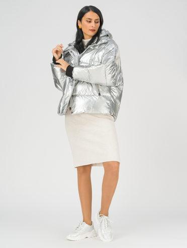 Пуховик 100% полиэстер, цвет серый металлик, арт. 19810645  - цена 7990 руб.  - магазин TOTOGROUP