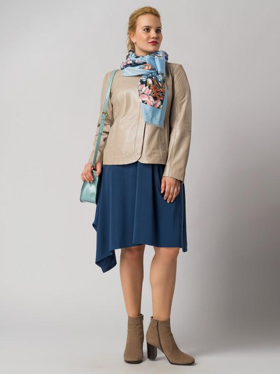 Кожаная куртка кожа , цвет бежевый металлик, арт. 20005533  - цена 12690 руб.  - магазин TOTOGROUP