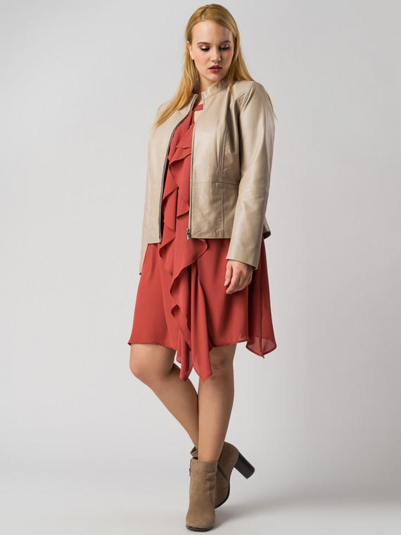 Кожаная куртка кожа , цвет бежевый металлик, арт. 20005534  - цена 11990 руб.  - магазин TOTOGROUP