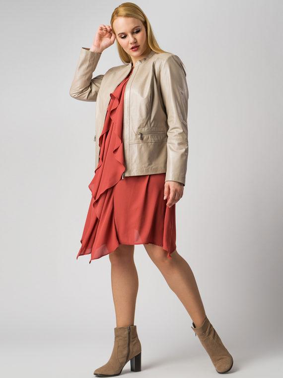Кожаная куртка кожа , цвет бежевый металлик, арт. 20005535  - цена 11990 руб.  - магазин TOTOGROUP