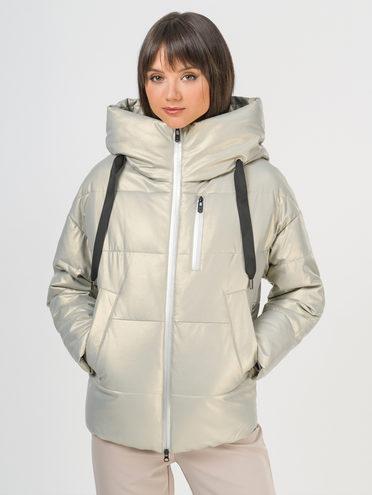 Кожаная куртка эко-кожа 100% П/А, цвет бежевый металлик, арт. 20109268  - цена 8490 руб.  - магазин TOTOGROUP