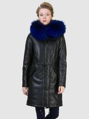 Кожаное пальто артикул 21602540/44 - фото 2