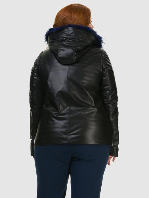 Кожаная куртка артикул 21602728/46 - фото 3